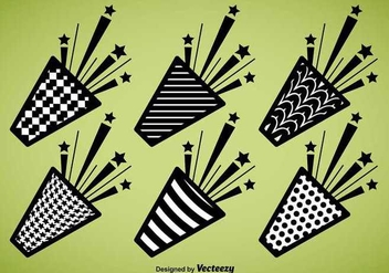 Party Popper Vector Icons - vector #336567 gratis