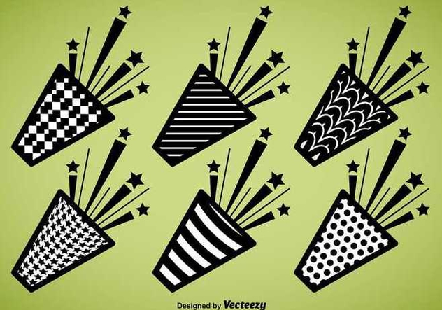 Party Popper Vector Icons - Free vector #336567