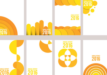 Yellow Annual Report Design - бесплатный vector #336617
