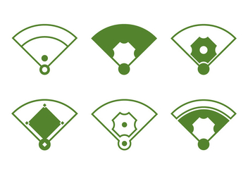 Baseball Diamond - Free vector #336657