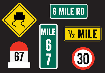 Road Sign Vectors - vector gratuit #336667