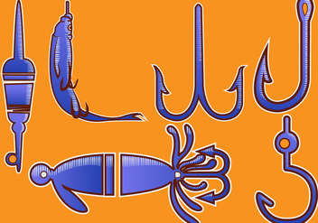 Fish Hook Vector Illustration - vector gratuit #336677