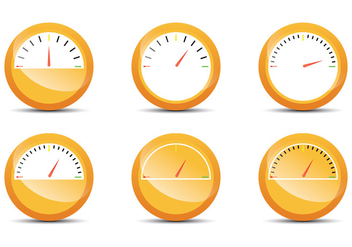 Orange Fuel Gauge - Free vector #336697