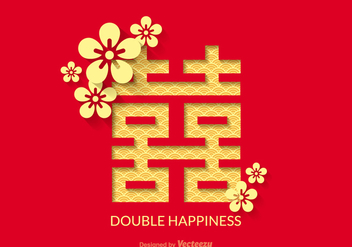 Free Double Happiness Vector Design - vector gratuit #336717