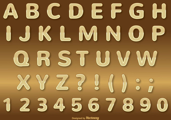 Gold Alphabet Set - vector gratuit #336957