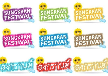 Songkran Titles - бесплатный vector #337067