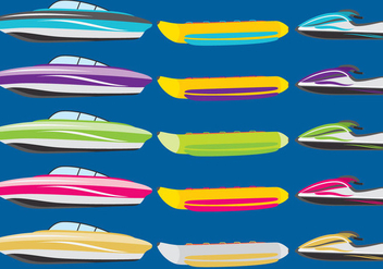 Boats And Jet Skies - vector gratuit #337087