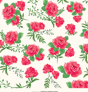 Roses background pattern - Free vector #337217