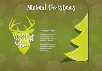 Free Christmas Background Illustration with Typography - vector #337237 gratis