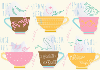 Free Set of Tea Vector Icons - Kostenloses vector #337267