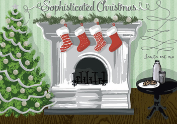 Free Christmas Background Illustration - Free vector #337277
