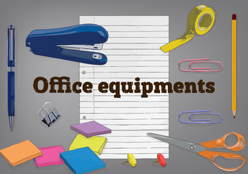 Free Office Elements Vector Background - Free vector #337287