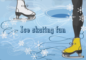 Free Vector Background with Feet in Figure Skates - Free vector #337307