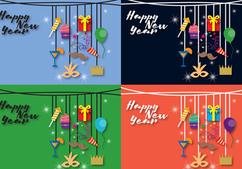 Background New Year - vector gratuit #337327