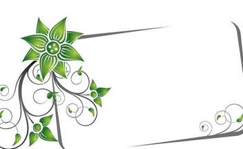 Green Swirling Frame Banner - Free vector #337357