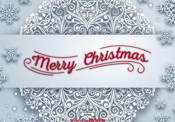 Christmas Snowflake Greeting Card - vector gratuit #337407