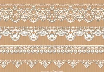 Free Lace Trim Vector Set - Free vector #337597