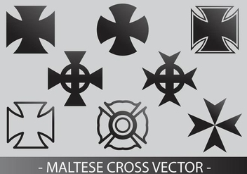 maltese cross vector - Free vector #337607