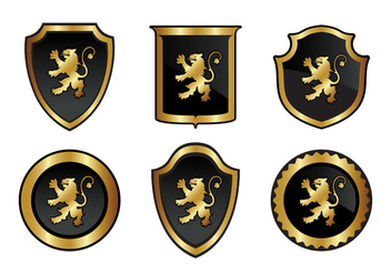 Gold Lion Rampant Vector - бесплатный vector #337637
