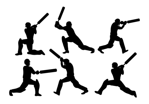 Cricket Player Vector - vector gratuit #337657