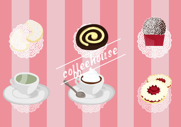 Free Set of Coffee House Vector Elements - Kostenloses vector #337747