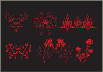 Flowery Embellishment - Free vector #337987