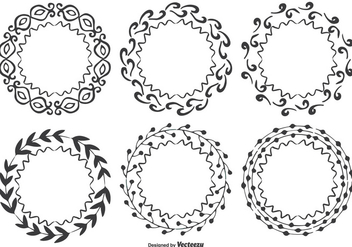 Decorative Hand Drawn Frames Set - Free vector #338117