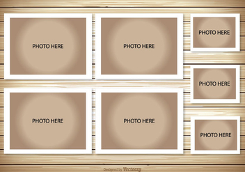 Photo Collage Template - vector gratuit #338127