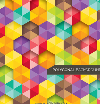 Abstract Background polygonal and colorful - Free vector #338187