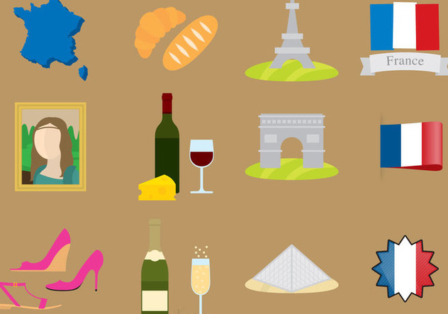 France Icons - Free vector #338357