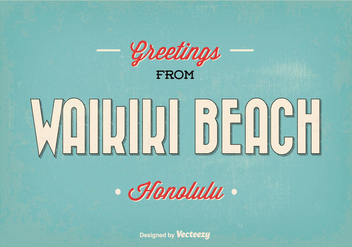 Waikiki Greeting Illustration - Kostenloses vector #338367