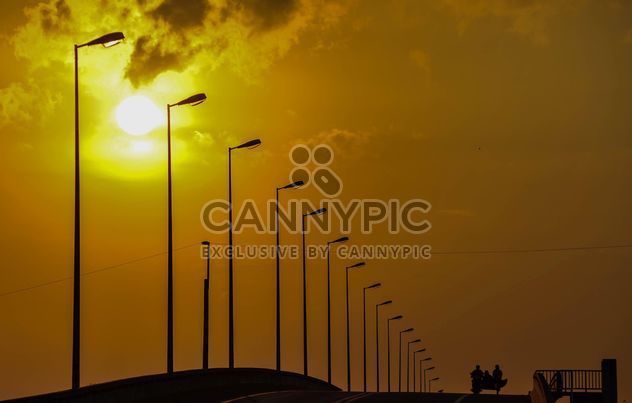 Street lights at sunset - Free image #338487