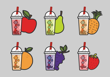 Vector Bubble Tea - vector gratuit #338667
