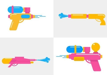 Songkran Vector Guns - Free vector #338677