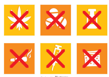 No Drugs Sets - vector gratuit #338697