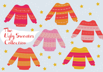 Free Set of Ugly Sweater Vector Background - Free vector #338737