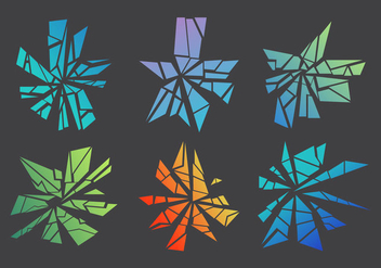 Free Shattered and Broken Glass #4 - Free vector #338767