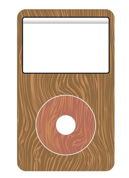 Wooden mp3 player - Free vector #338977