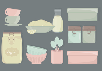 Kitchen Vector Elements - vector gratuit #339367