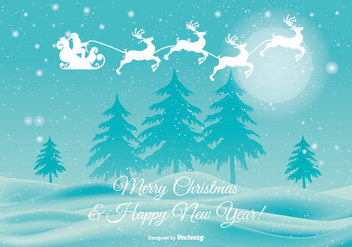 Beautiful Christmas Illustration - Free vector #339427