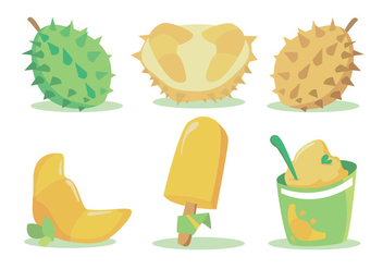 Durian Vector Set - vector gratuit #339447