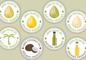 Oil Labels - vector #339507 gratis