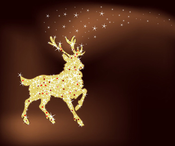 Magic christmas reindeer - Free vector #339527
