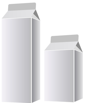 Milk packaging templates - vector gratuit #339657