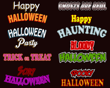 Halloween Text Styles - vector gratuit #339757