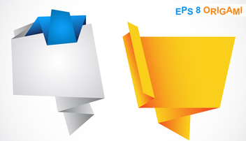 Origami Speech Bubbles - Free vector #339787
