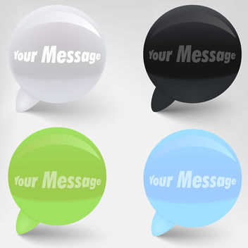 Glossy Vector Speech Bubbles - Free vector #339887