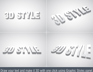 3d Text Effect - vector #339967 gratis