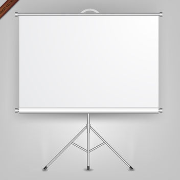 Free Vector Presentation Screen - vector gratuit #339987