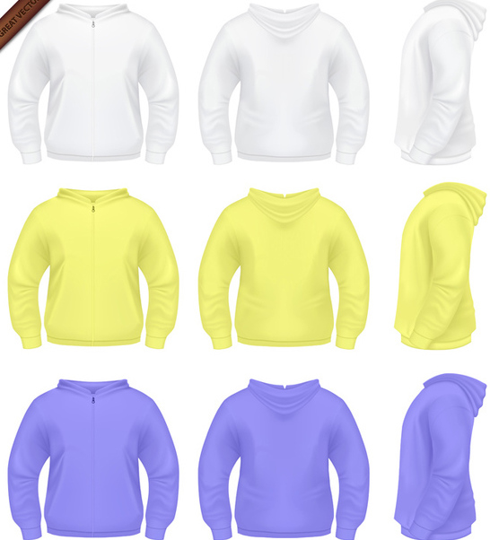 Mens Sweater with Hoodie - Free vector #340027